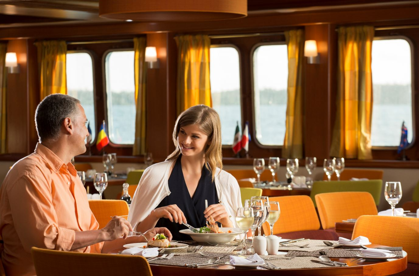 Restaurant at Santa Cruz II Galapagos Cruise.