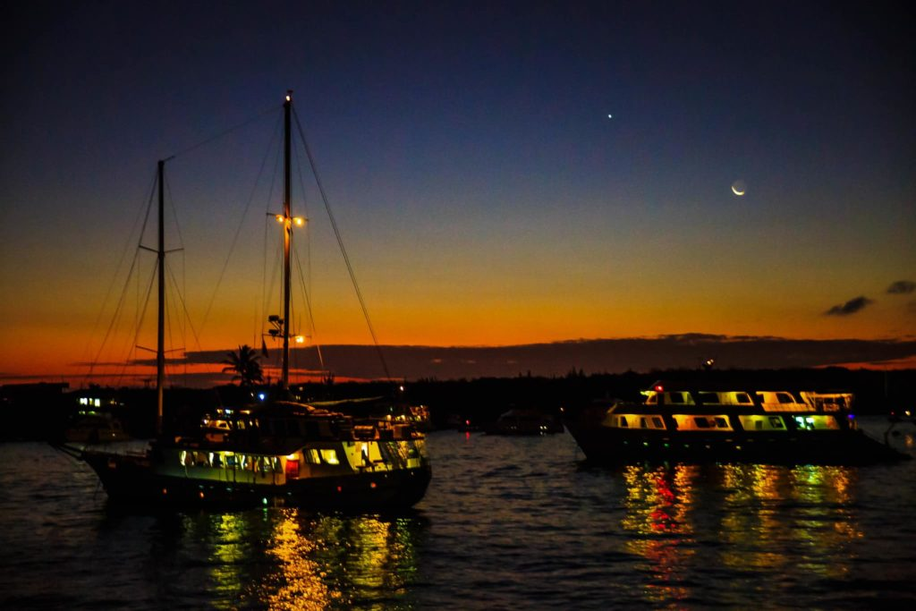 Galapagos islands night view