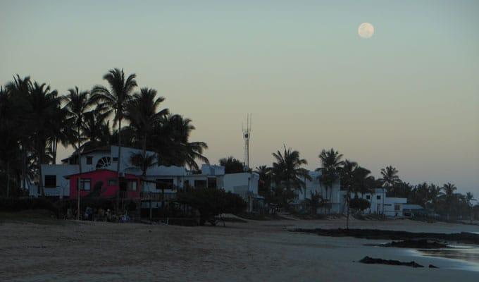 Sunset view at Isabela Island.