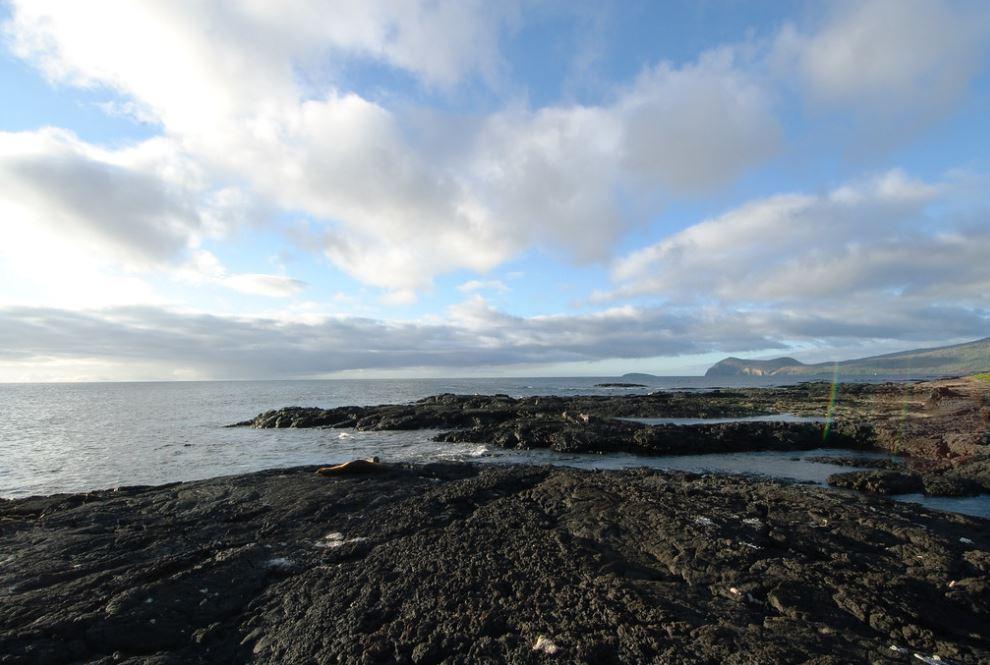 View of Santiago Island landscape.
