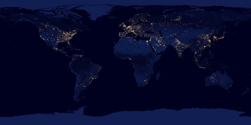Earth view at night