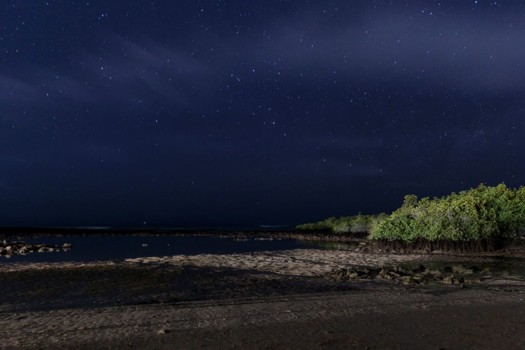 Galapagos islands at night