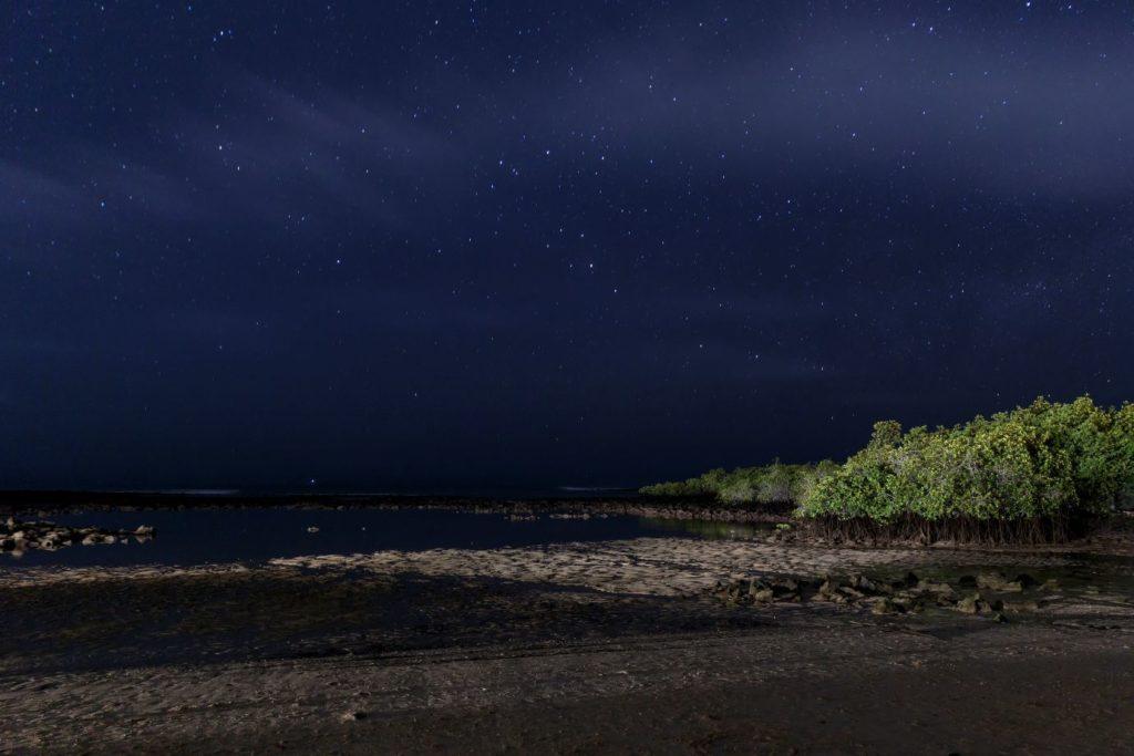 Galapagos islands at night