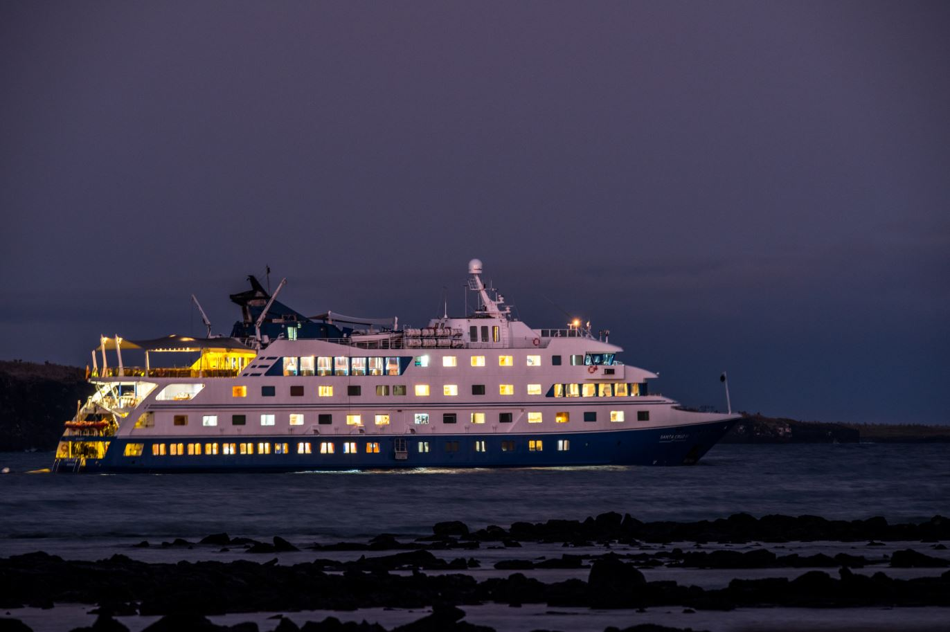 View of Santa Cruz Cruise at night time.