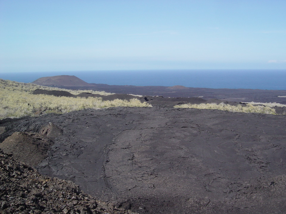 Landscape of Galapagos Islands restricted area
