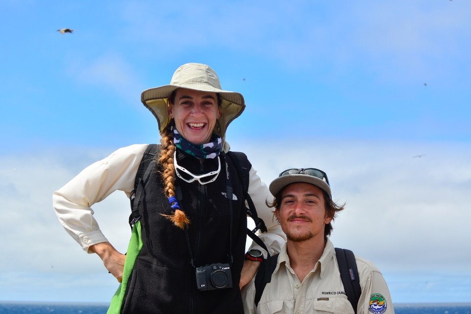 Our Naturalist Guides during an excursion in Galapagos.