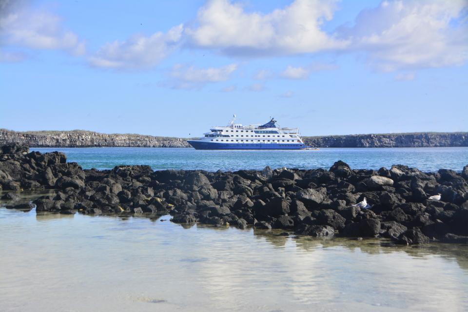 Santa Cruz II Galapagos Cruise navigating on Genovesa Island.