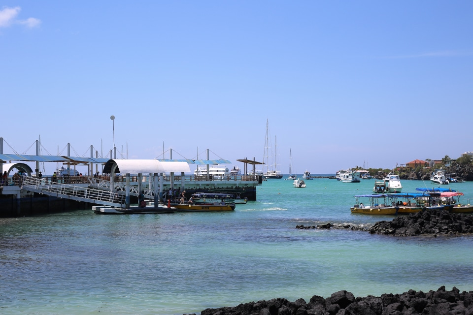 Puerto Ayora is one of the town ports in the archipelago.
