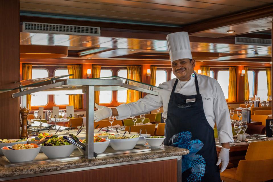 Gourmet meals aboard Santa Cruz II Galapagos Cruise