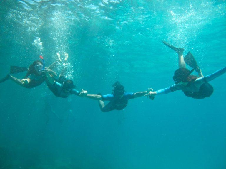 Snorkeling in Galapagos during hot season