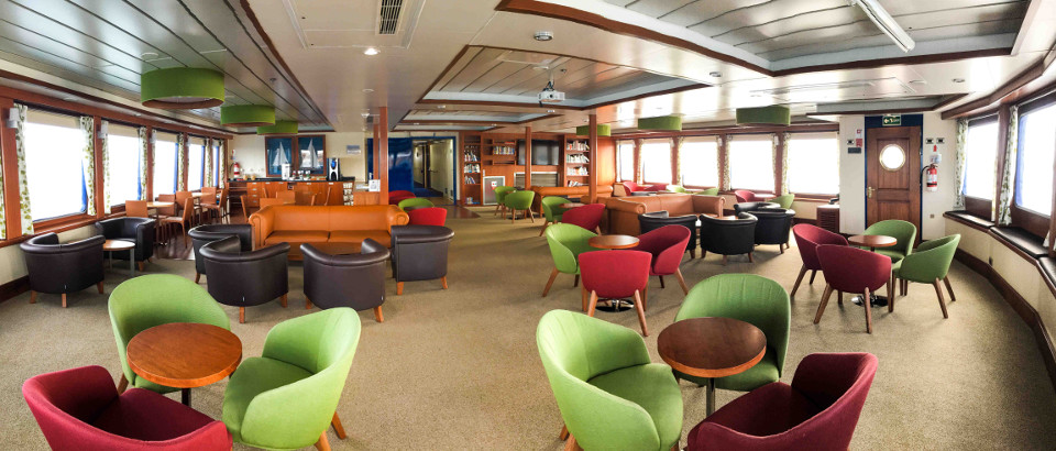 Expedition lounge and library.