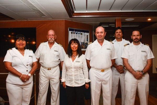 Crew of Santa Cruz II Galapagos Cruise