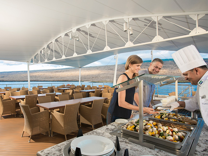 Panorama deck aboard Santa Cruz II Galapagos Cruise.
