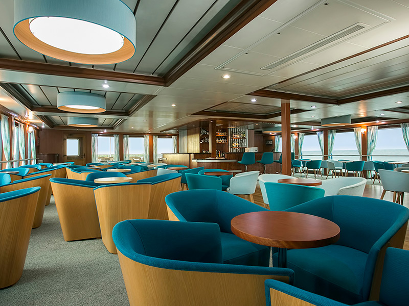 Bar & Lounge aboard Santa Cruz II Galapagos Cruise.