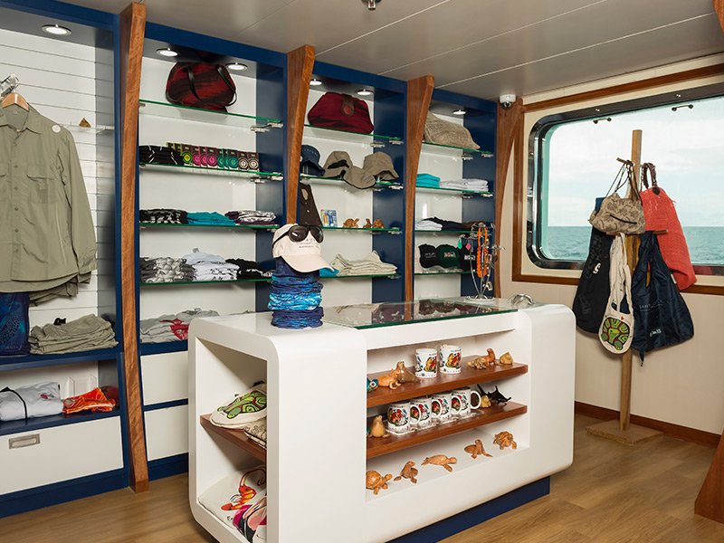 Boutique available aboard Santa Cruz II Galapagos Cruise