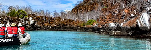 Exclusive Galapagos visitor sites are available for the Santa Cruz II Cruise.