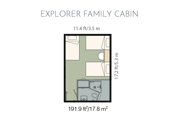 Explorer family cabin plan