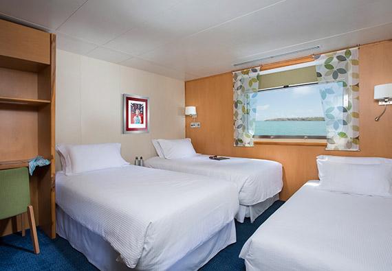 Explorer family cabin aboard Santa Cruz II Galapagos Cruise.