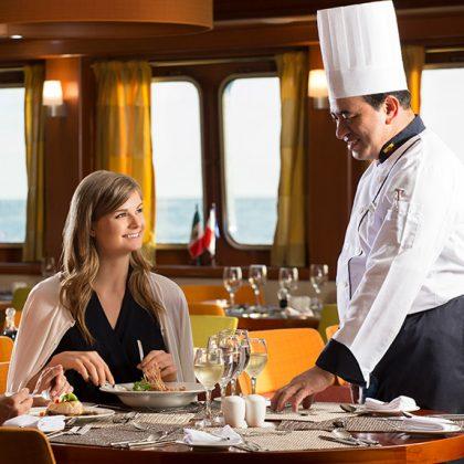 First class service aboard Santa Cruz II Galapagos Cruise.