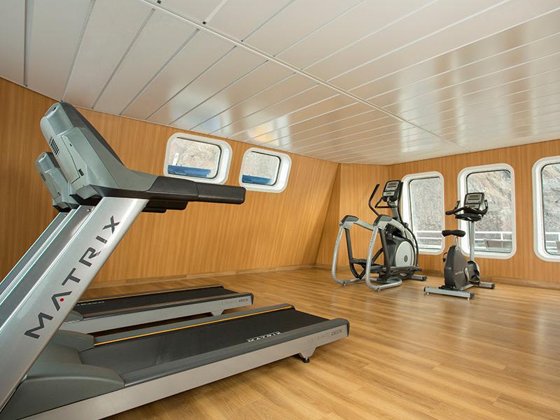 Gym available aboard Santa Cruz II Galapagos Cruise.