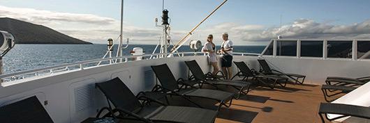 Sun Deck aboard Santa Cruz II Galapagos Cruise.