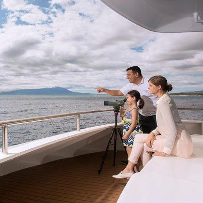 Social areas aboard Santa Cruz II Galapagos Cruise.