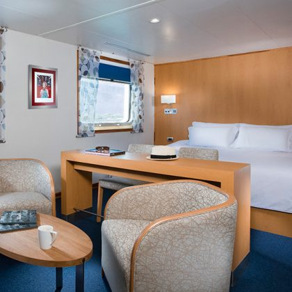 Spacious cabins available aboard Santa Cruz II Galapagos Cruise.