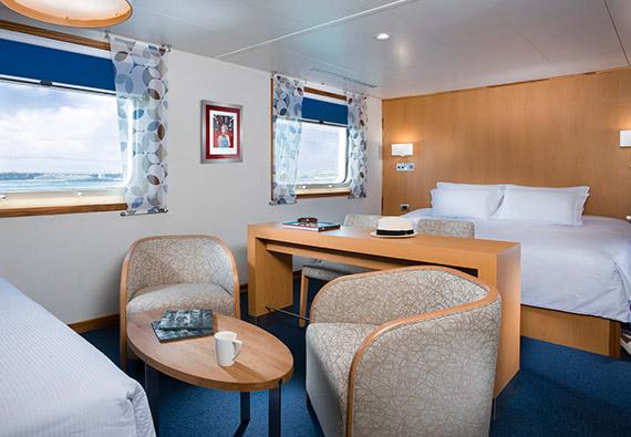 Darwin suite aboard Santa Cruz II Galapagos Cruise.