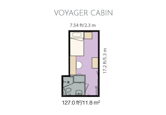 Voyager cabin plan.