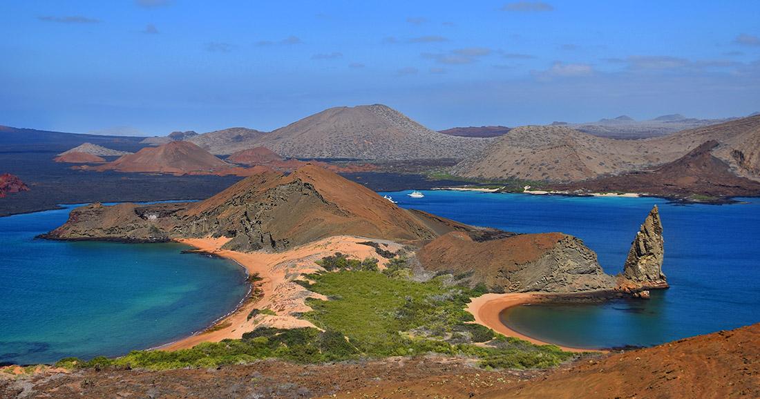 Bartolome Island landscape.
