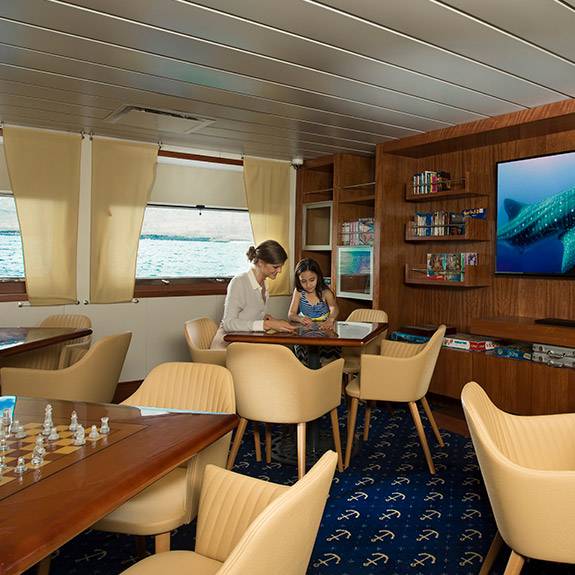 Discovery Room at our Expedition deck.