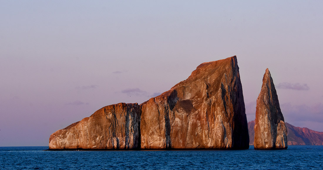 Kicker Rock on San Cristobal Island.