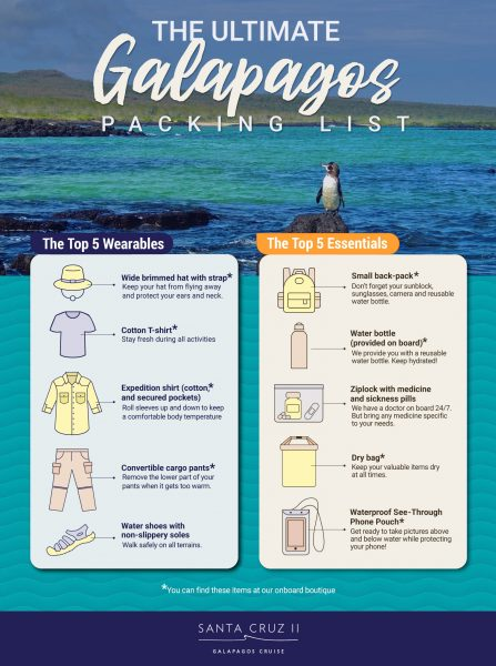 Galapagos packing list for Santa Cruz Cruise