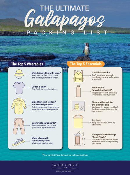 Galapagos packing list for Santa Cruz Cruise