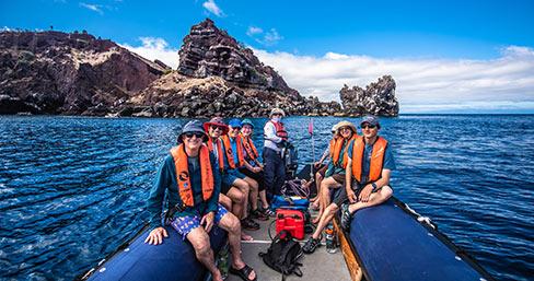 Panga ride at Bucaneer Cove on Santiago Island.