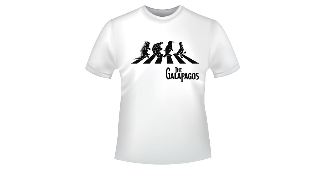 T-shirt with Galapagos iconic animals