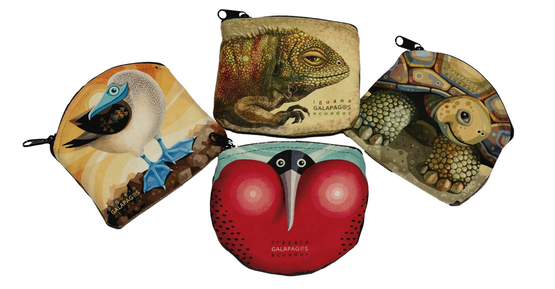 Money pouch with Galapagos animals