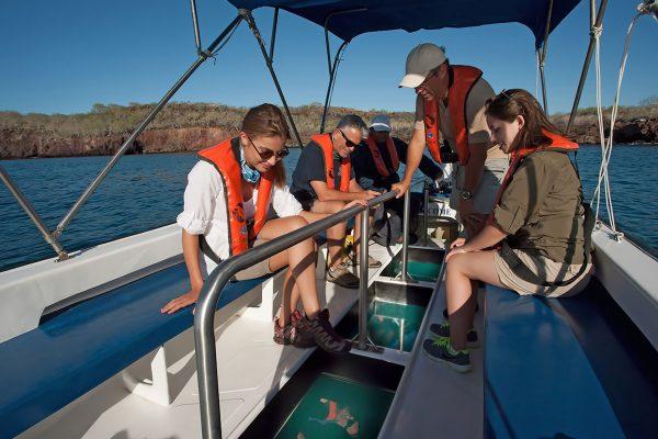 Glass-bottom boat ride