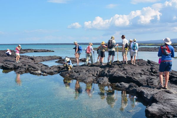 Island exploration in the Galapagos