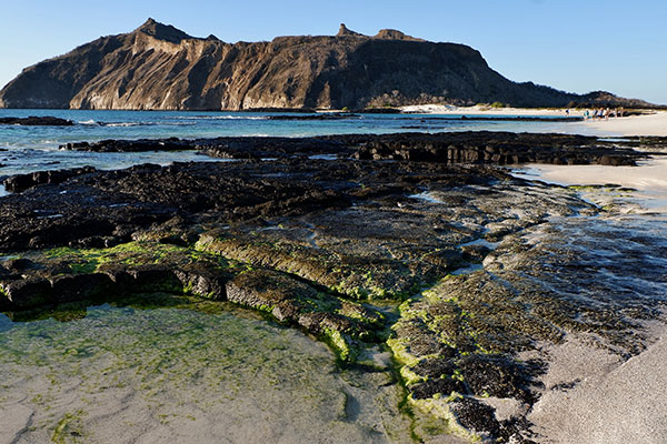 San Cristobal Island's beautiful coastline in the Galapagos Islands